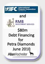 RMB and IFC Debt Financing for Petra Diamonds Tombstone