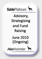 Sable Platinum Advisory, Strategising and Fund Raising Tombstone