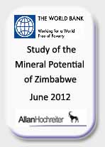 The World Bank, Study of the Mineral Potential of Zimbabwe, June 2012